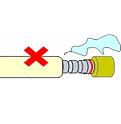 ゴム管は赤い線まできっちり差し込んでください